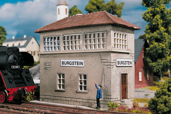 61822 Hobby Line Burgstein Switch Tower, Building Kit (HO-Scale)