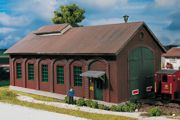 61823 Hobby Line Burgstein Loco Shed, Building Kit (HO-Scale)