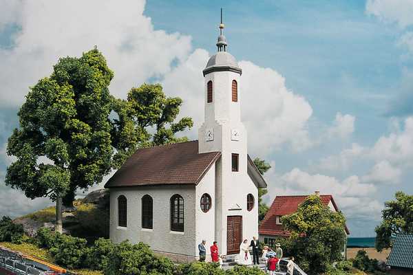 61825 Hobby Line St Lucas Church, Building Kit (HO-Scale)
