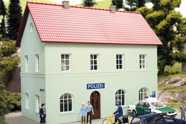 61836 Hobby Line Police Station, Building Kit (HO-Scale)