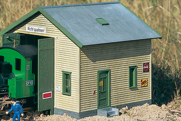 62044 Red River Loco Shed, Building Kit (G-Scale)