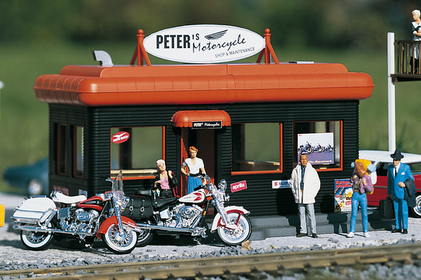 62259 Peters Motorcycle Shop, Building Kit (G-Scale)