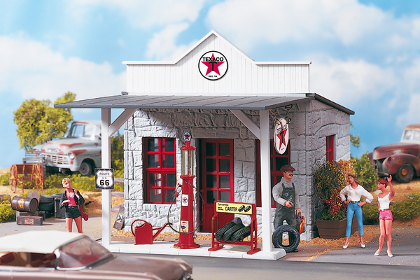 62264 TEXACO Gas Station, Building Kit (G-Scale)