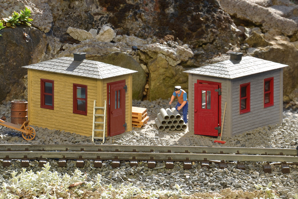 62718 Railroad Tool Shed 2-pack Built-Up Building (G-Scale)