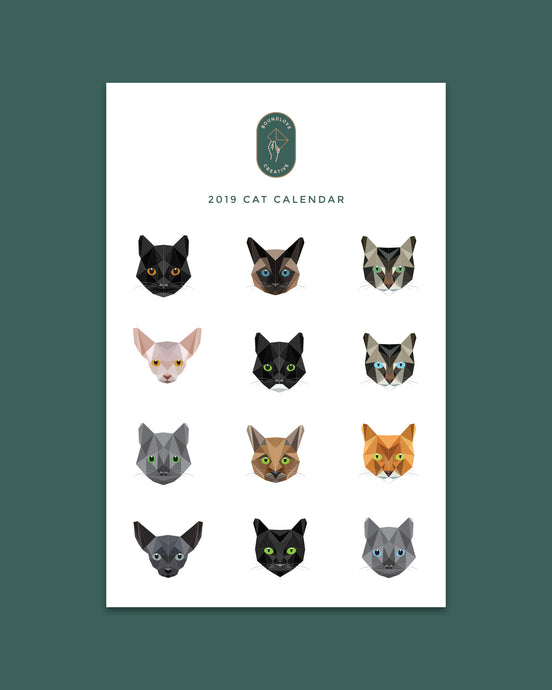 Digital 2019 Cat Calendar
