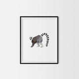 Set of 6 Geometric Animal Art Prints