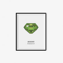 Load image into Gallery viewer, Monthly Birthstone Prints