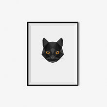 Load image into Gallery viewer, Geometric Cat Art Print