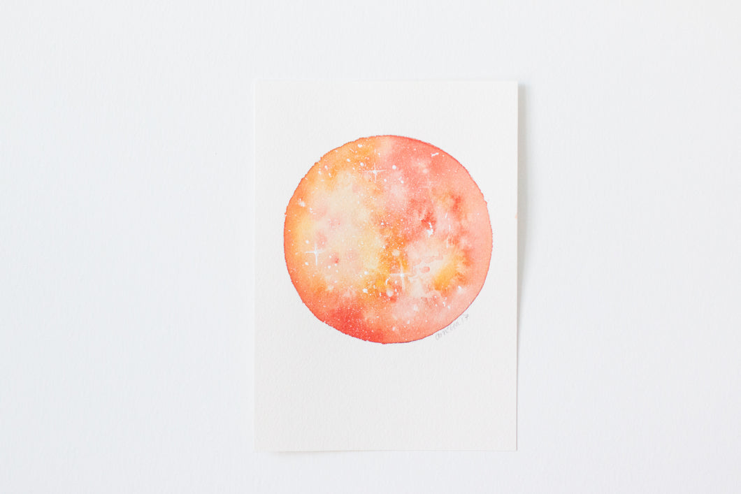 Original Orange Moon Painting