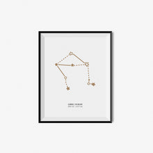 Load image into Gallery viewer, Zodiac Constellation Prints