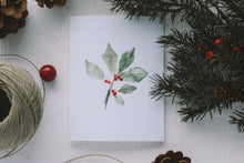 Load image into Gallery viewer, Christmas Holly Card