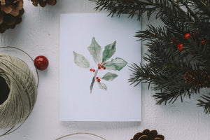Christmas Holly Card