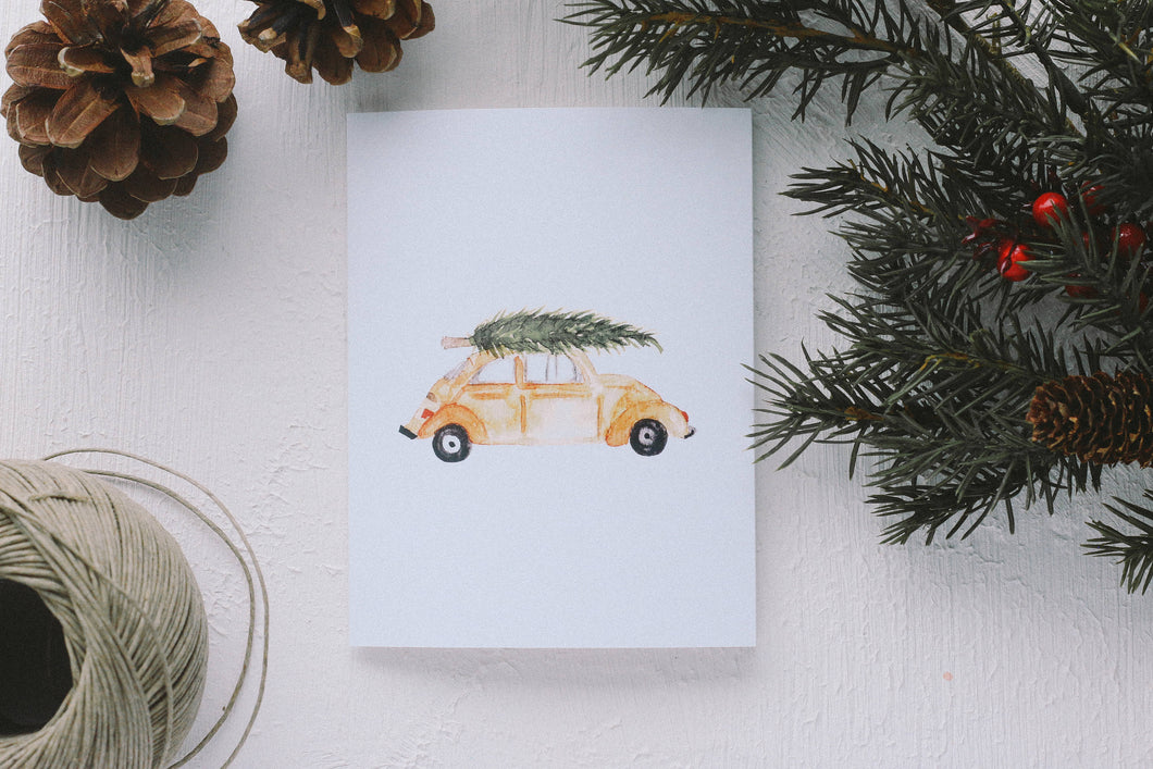 Christmas Tree Car Card