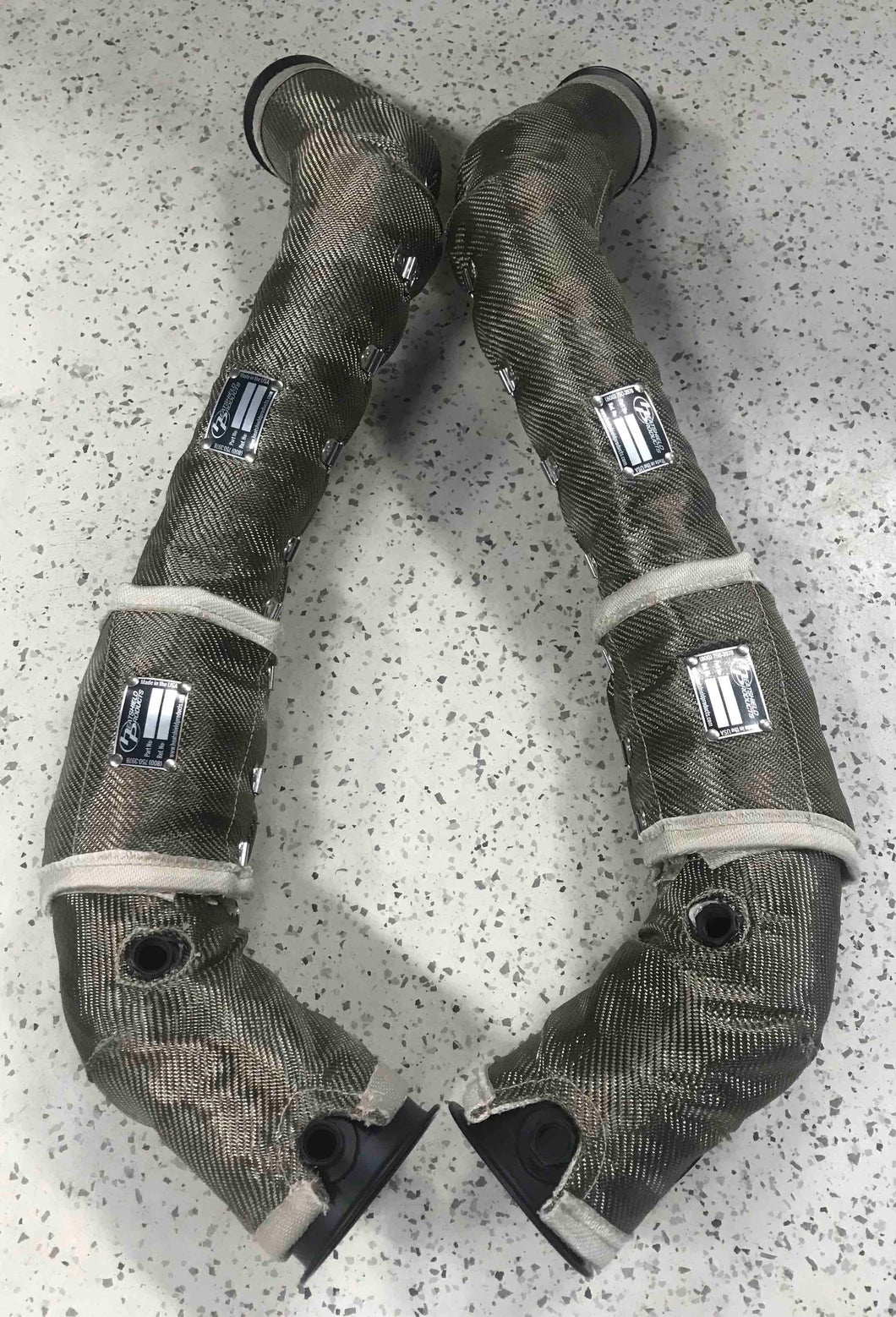 McLaren 12C/650S/675LT/570S/570GT Cat-less Downpipes