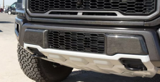 2017-8 Ford Raptor Carbon Fiber Lower Grille Caps