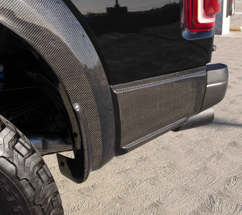 2017-8 Ford Raptor Carbon Fiber Rear Quarter Panel Moldings