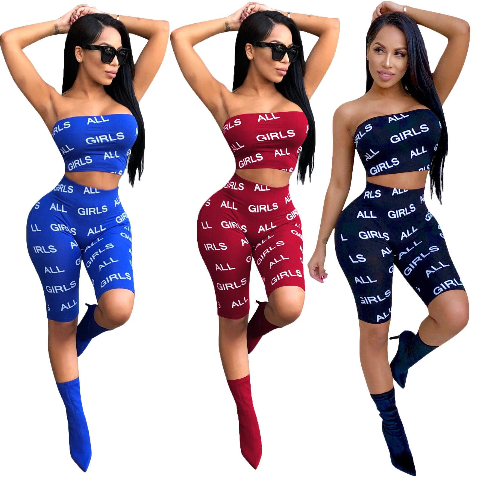 GIRLS Strapless Crop Top and Knee Length Leggings Two Piece Set