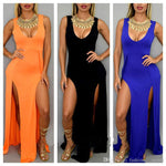 Women Long Maxi Dress Women High Slit Bodycon Bandage