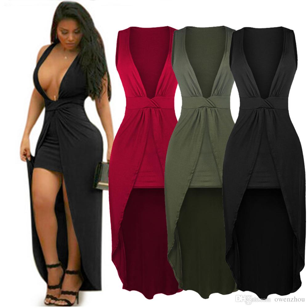 Sexy Deep V Neck Sleeveless Bandage Dress