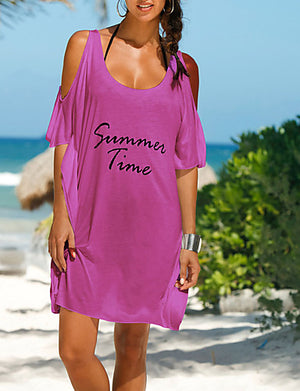 Women's Letter Print Cover-Up