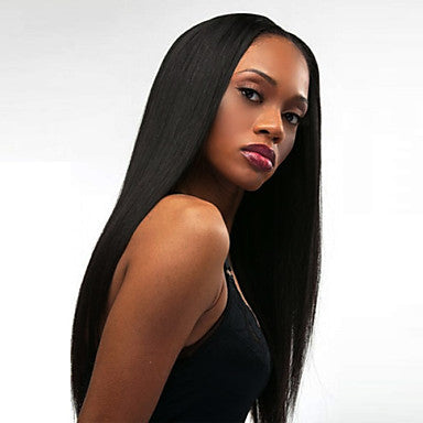 Women Synthetic Long straight Black Wigs