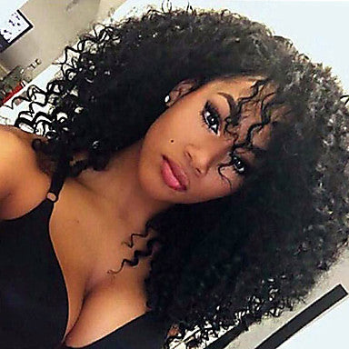 Women Synthetic Curly Black Wig