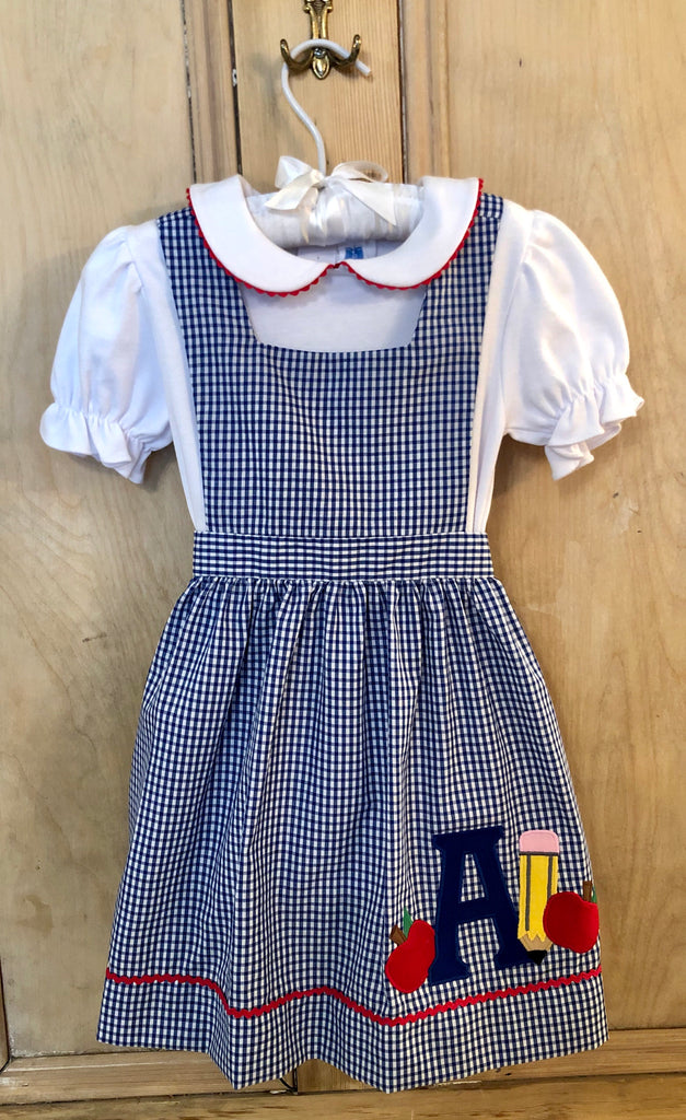 Royal Check Back To School Dress