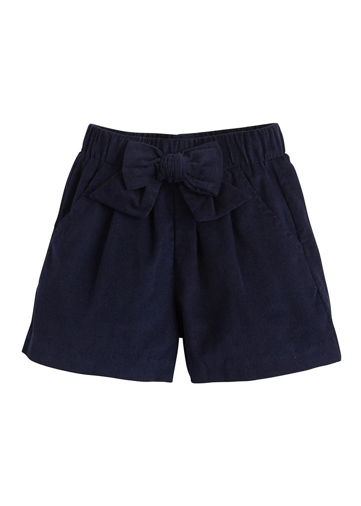 Navy Cord Bow Short