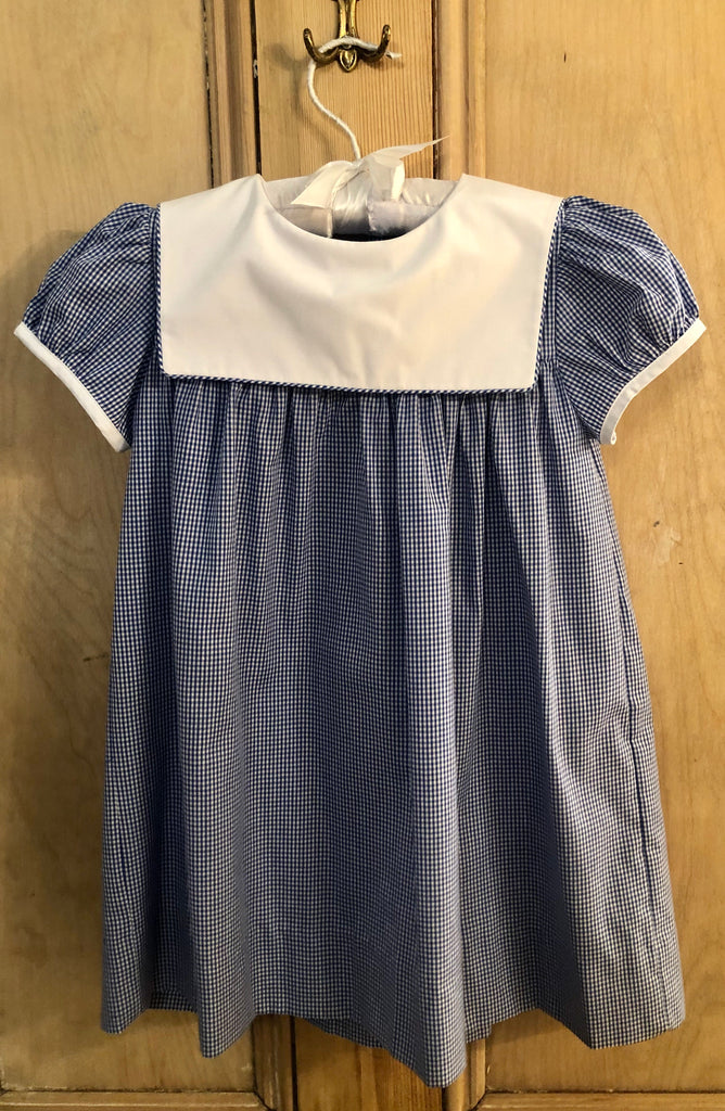 Royal Square Bib Collar Dress