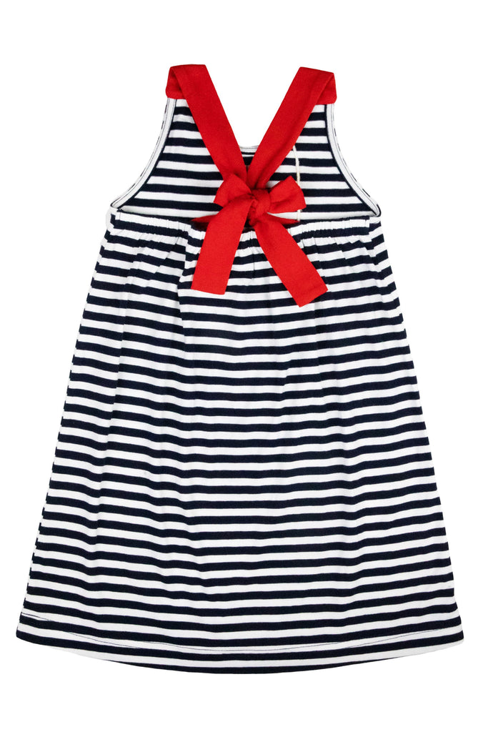 Navy Stripe Dress w/ Anchor