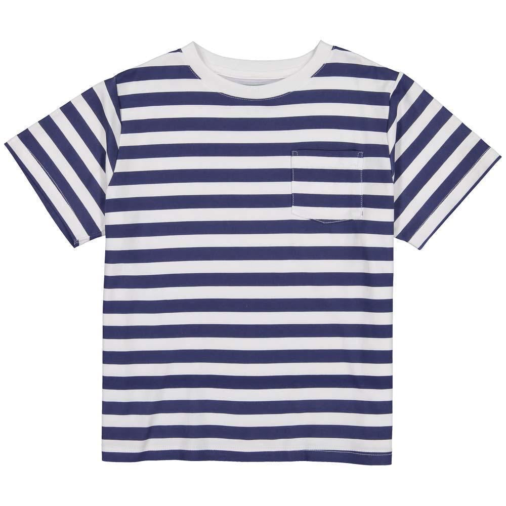Navy Stripe Pocket Tee