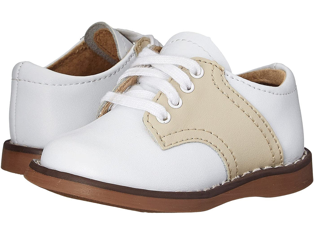 White/Ecru Cheer Saddle Oxford