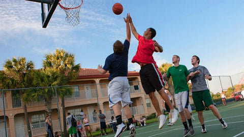 basketball courts treat with anti-slip coating Dura Grip