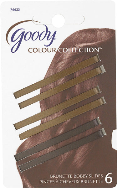 Goody Color Collection Bobby Slides Brunette - 6 Count