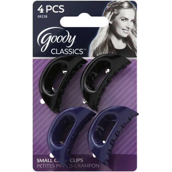 Goody Classic Small Curved Claw Clips - 4 Count