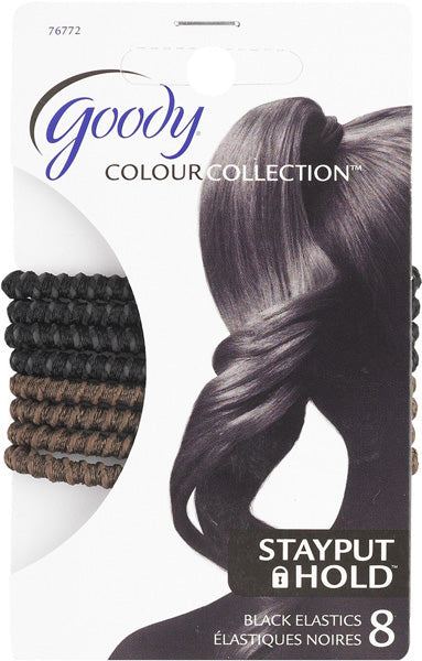 Goody Color Collection Elastic SPH Black & Brown - 8 Count