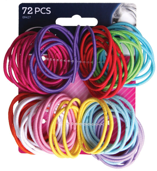 Goody Ouchless No Metal Gentle Elastics Assorted Colors - 72 Count