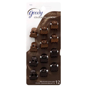 Goody Colour Collection Mini Claw Clips Brunette