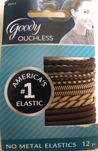 Goody Ouchless No Metal Elastics - 12 Count