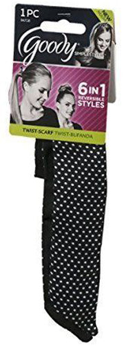 Goody Twist-Scarf Headwraps Reversible