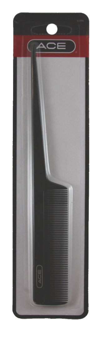 "Ace Classic Tail Comb 8"" Black - 1 Comb"