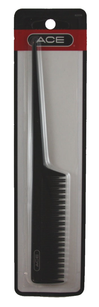 "Ace Teasing Tail Comb 8"" Black - 1 Pack"