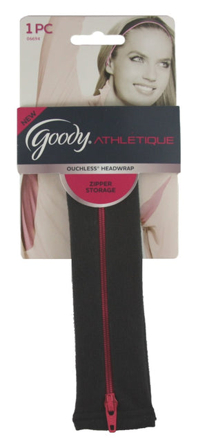 Goody Athletic Ouchless Headwrap with Zipper Storage