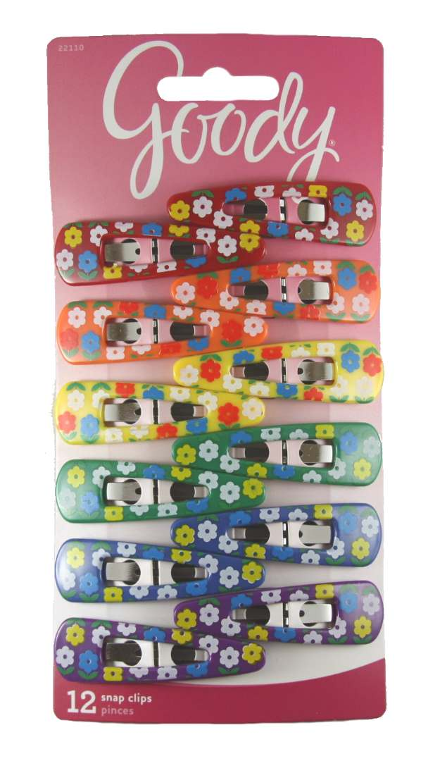 Goody Beautiful Flower Design Counter Clip - 12 Clips