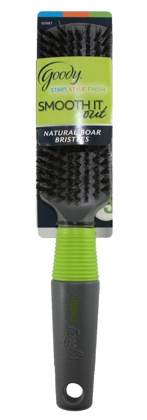 Goody Black/Green Finish Boar Styler Brush