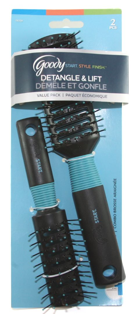 Goody Brush Combo Vent Value Pack - 2 Count