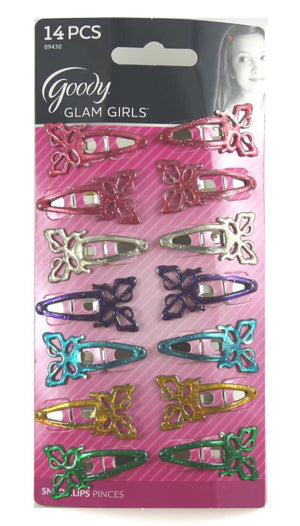 Goody Butterfly Snap Clips for Girls Assorted Colors