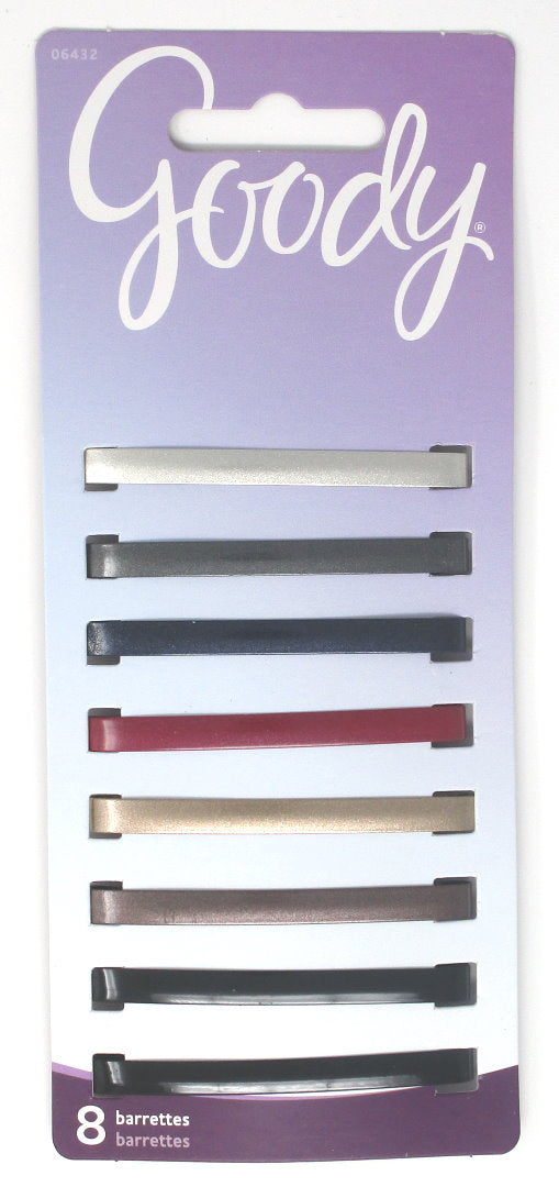 Goody Classic Metallic Gloss Stay Barrettes - 8 Count