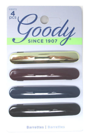 "Goody Assorted Metallic Dark Romance Barrettes 2.5""- 4 Pack"