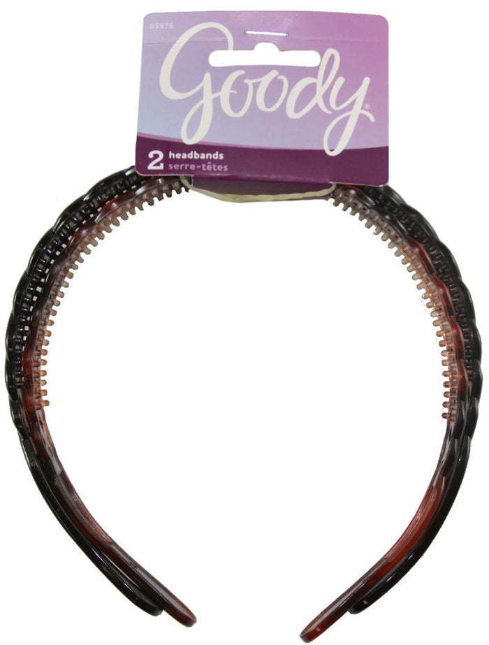 Goody Classics Basket Weave Braided Headbands - 2 Count